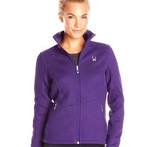 Spyder Core Purple Sweater Zip Up Jacket Sz M